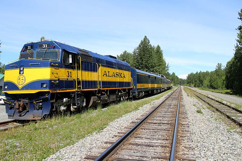 Image showing Hurricane Turn Train at Talkeetna, AK in June 2015