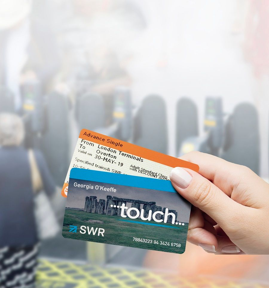 Image showing SWR Touch card and railway ticket