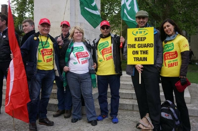 Image showing RMT protestors