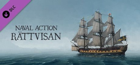 Clickable image taking you to the Steam store page for the Rättvisan DLC for Naval Action