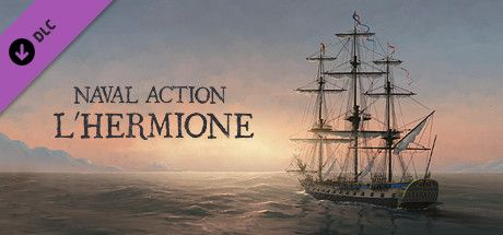 Clickable image taking you to the Steam store page for the L'Hermione DLC for Naval Action