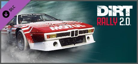 Clickable image taking you to the Steam store page for the BMW M1 Procar Rally DLC for Dirt Rally 2.0.