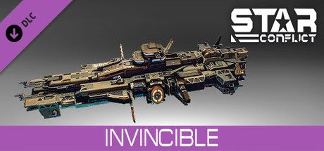 Clickable image taking you to the Steam store page for the Invincible pack DLC for Star Conflict