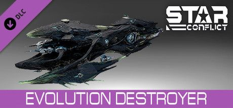 Clickable image taking you to the Steam store page for the Ellidium Destroyer Starter pack DLC for Star Conflict