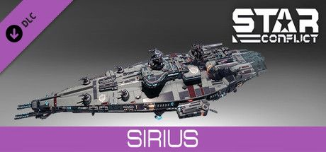 Clickable image taking you to the Steam store page for the Sirius pack DLC for Star Conflict