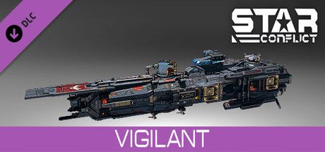 Clickable image taking you to the Steam store page for the Vigilant pack DLC for Star Conflict