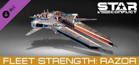 Clickable image taking you to the Steam store page for the Fleet Strength - Razor DLC for Star Conflict