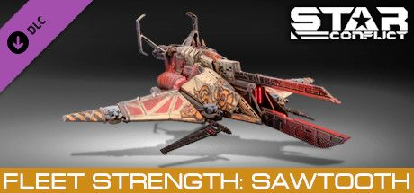 Clickable image taking you to the Steam store page for the Fleet Strength - Sawtooth DLC for Star Conflict