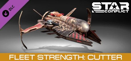 Clickable image taking you to the Steam store page for the Fleet Strength - Cutter DLC for Star Conflict
