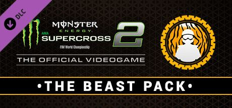 Clickable image taking you to the Steam store page for the Beast Pack DLC for Monster Energy Supercross - The Official Videogame 2