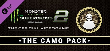 Clickable image taking you to the Steam store page for the Camo Pack DLC for Monster Energy Supercross - The Official Videogame 2