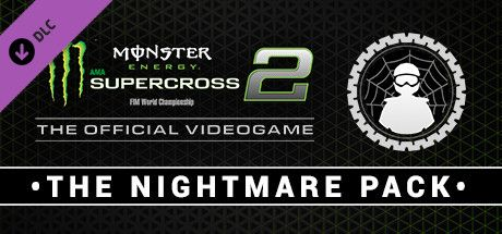 Clickable image taking you to the Steam store page for the Nightmare Pack DLC for Monster Energy Supercross - The Official Videogame 2