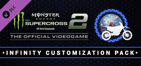 Clickable image taking you to the Steam store page for the Infinity Customization Pack DLC for Monster Energy Supercross - The Official Videogame 2