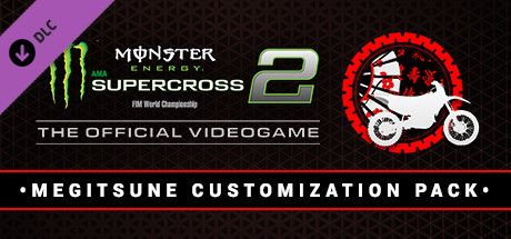 Clickable image taking you to the Steam store page for the Megitsune Customization Pack DLC for Monster Energy Supercross - The Official Videogame 2