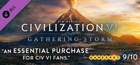 Clickable image taking you to the Indiegala store page for the Gathering Storm DLC for Sid Meier's Civilization® VI