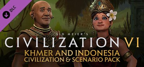 Clickable image taking you to the Indiegala store page for the Khmer and Indonesia Civilization & Scenario Pack DLC for Sid Meier's Civilization® VI
