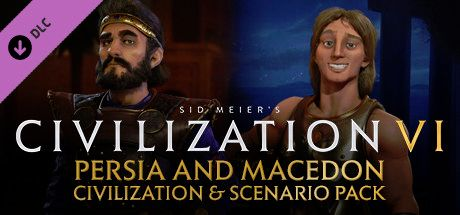 Clickable image taking you to the Indiegala store page for the Persia and Macedon Civilization & Scenario Pack DLC for Sid Meier's Civilization® VI