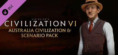 Clickable image taking you to the Indiegala store page for the Australia Civilization & Scenario Pack DLC for Sid Meier's Civilization® VI