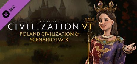 Clickable image taking you to the Indiegala store page for the Poland Civilization & Scenario Pack DLC for Sid Meier's Civilization® VI
