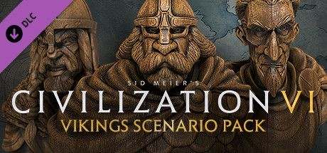 Clickable image taking you to the Indiegala store page for the Vikings Scenario Pack DLC for Sid Meier's Civilization® VI