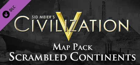 Clickable image taking you to the Indiegala store page for the Scrambled Continents Map Pack DLC for Sid Meier's Civilization® V