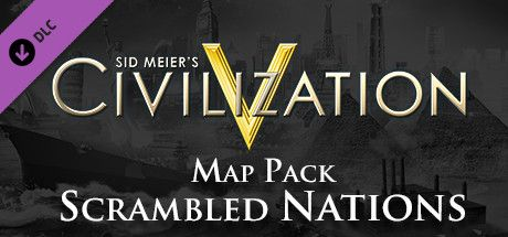 Clickable image taking you to the Green Man Gaming store page for the Scrambled Nations Map Pack DLC for Sid Meier's Civilization® V