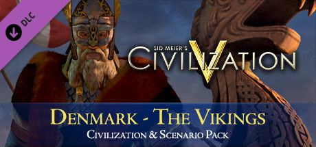 Clickable image taking you to the Indiegala store page for the Civ and Scenario Pack: Denmark (The Vikings) DLC for Sid Meier's Civilization® V