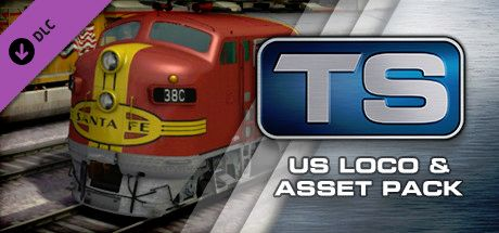 Clickable image taking you to the DPSimulation page for the US Loco & Asset Pack DLC for Train Simulator