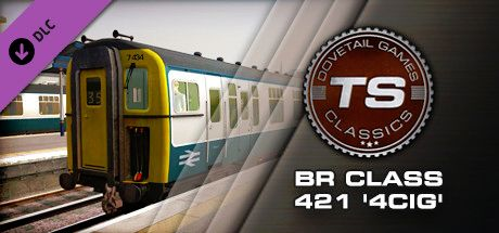 Clickable image taking you to the DPSimulation page for the BR Class 421 '4CIG' Loco DLC for Train Simulator