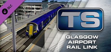Clickable image taking you to the DPSimulation page for the Glasgow Airport Rail Link Route Add-On DLC for Train Simulator