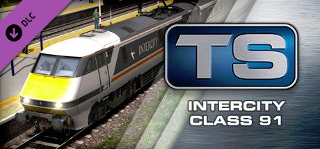Clickable image taking you to the DPSimulation page for the InterCity Class 91 Loco Add-On DLC for Train Simulator