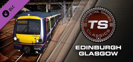 Clickable image taking you to the DPSimulation page for the Edinburgh-Glasgow Route Add-On DLC for Train Simulator
