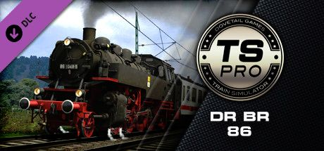 Clickable image taking you to the DPSimulation page for the DR BR 86 Loco Add-On DLC for Train Simulator