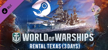 Clickable image taking you to the Steam store page for the Rental Texas (3 Days) DLC for World of Warships