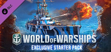 Clickable image taking you to the Steam store page for the Exclusive Starter Pack DLC for World of Warships
