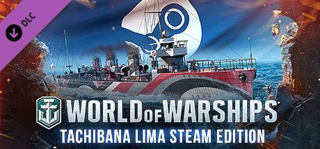 Clickable image taking you to the Steam store page for the Tachibana Lima Steam Edition DLC for World of Warships