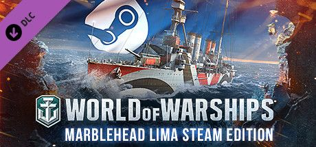 Clickable image taking you to the Steam store page for the Marblehead Lima Steam Edition DLC for World of Warships