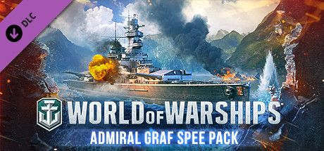 Clickable image taking you to the Steam store page for the Admiral Graf Spee Pack DLC for World of Warships