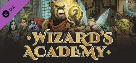 Clickable image taking you to the Steam store page for the Wizard's Academy DLC for Tabletop Simulator