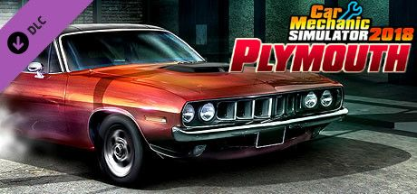 Clickable image taking you to the Steam store page for the Plymouth DLC for Car Mechanic Simulator 2018