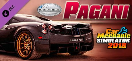 Clickable image taking you to the Steam store page for the Pagani DLC for Car Mechanic Simulator 2018