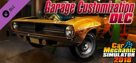 Clickable image taking you to the Steam store page for the Garage Customization DLC for Car Mechanic Simulator 2018