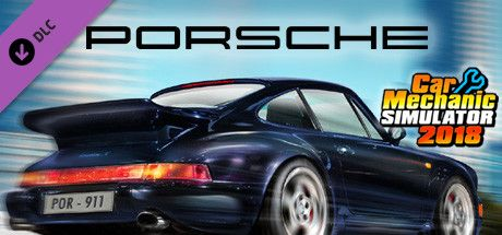 Clickable image taking you to the Steam store page for the Porsche DLC for Car Mechanic Simulator 2018