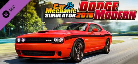 Clickable image taking you to the Steam store page for the Dodge Modern DLC for Car Mechanic Simulator 2018