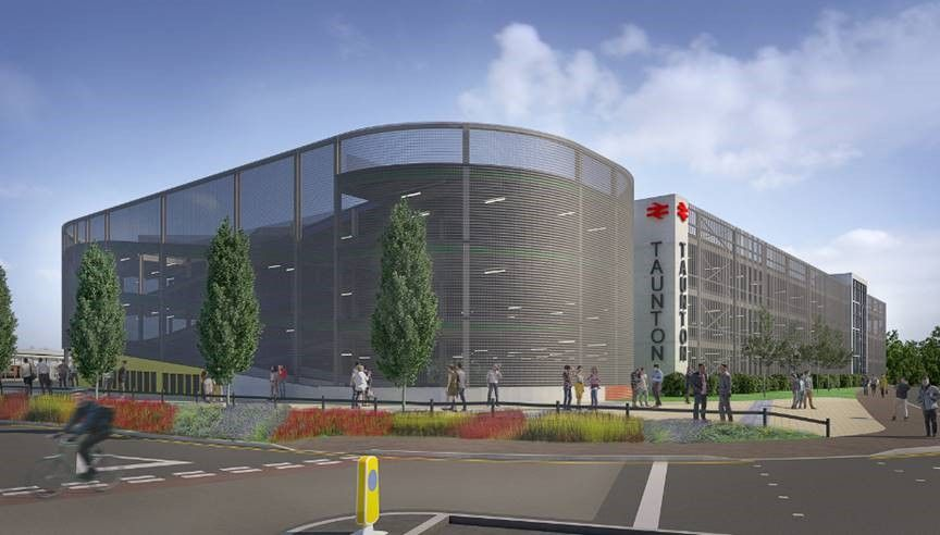 Image showing artists impression of the Taunton station redevelopment