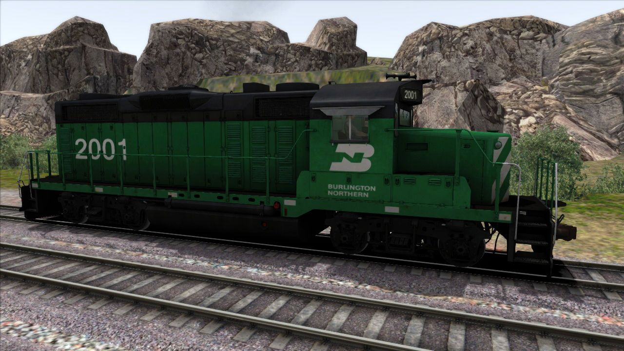 Image showing screenshot of the GP20 Burlington Northern Add-on Livery on the TS Marketplace