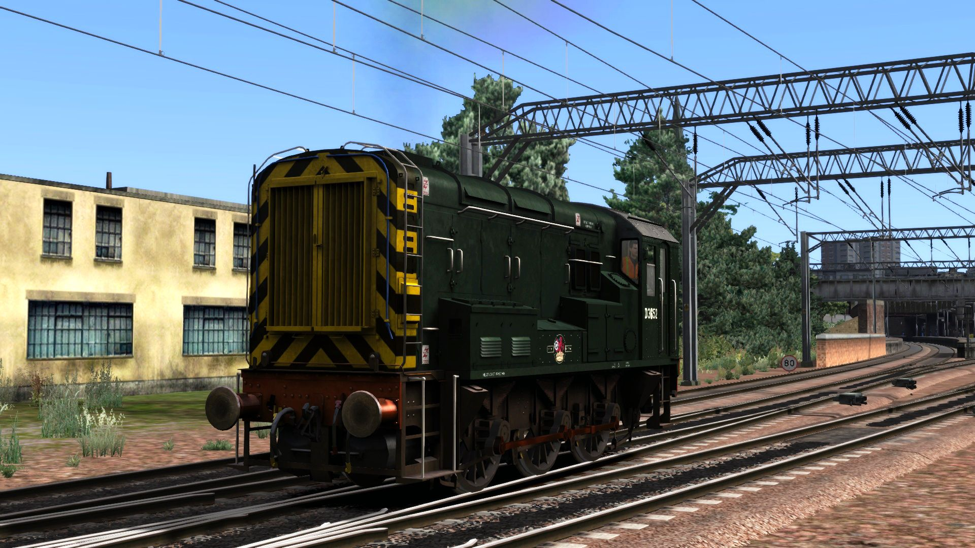 Image showing screenshot of the BR Green Class 08 Add-on Livery on the TS Marketplace