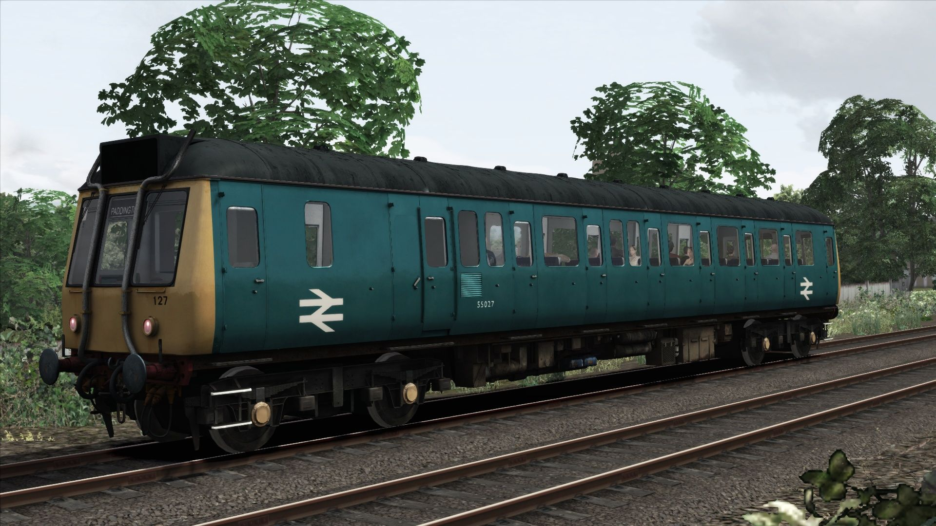 Image showing screenshot of the BR Blue Class 121 Add-On Livery on the TS Marketplace