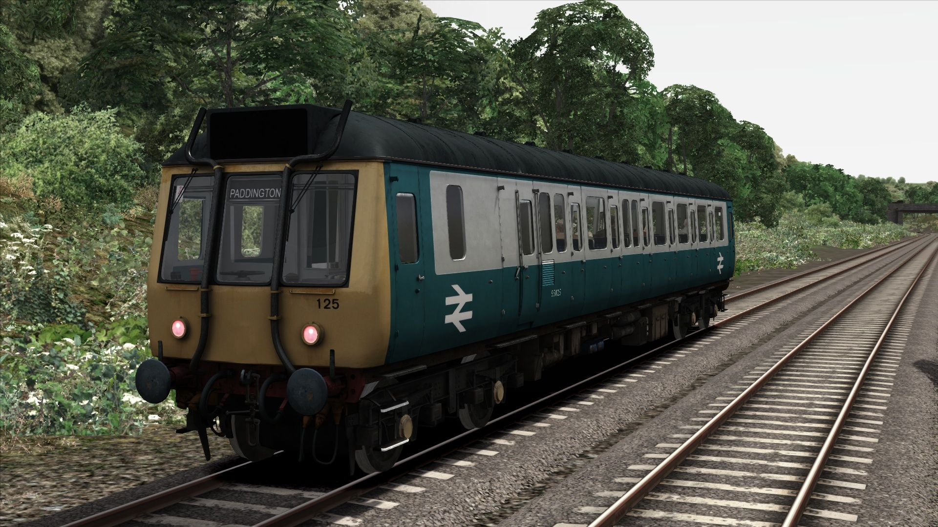 Image showing screenshot of the BR Blue/Grey Class 121 Add-On Livery on the TS Marketplace