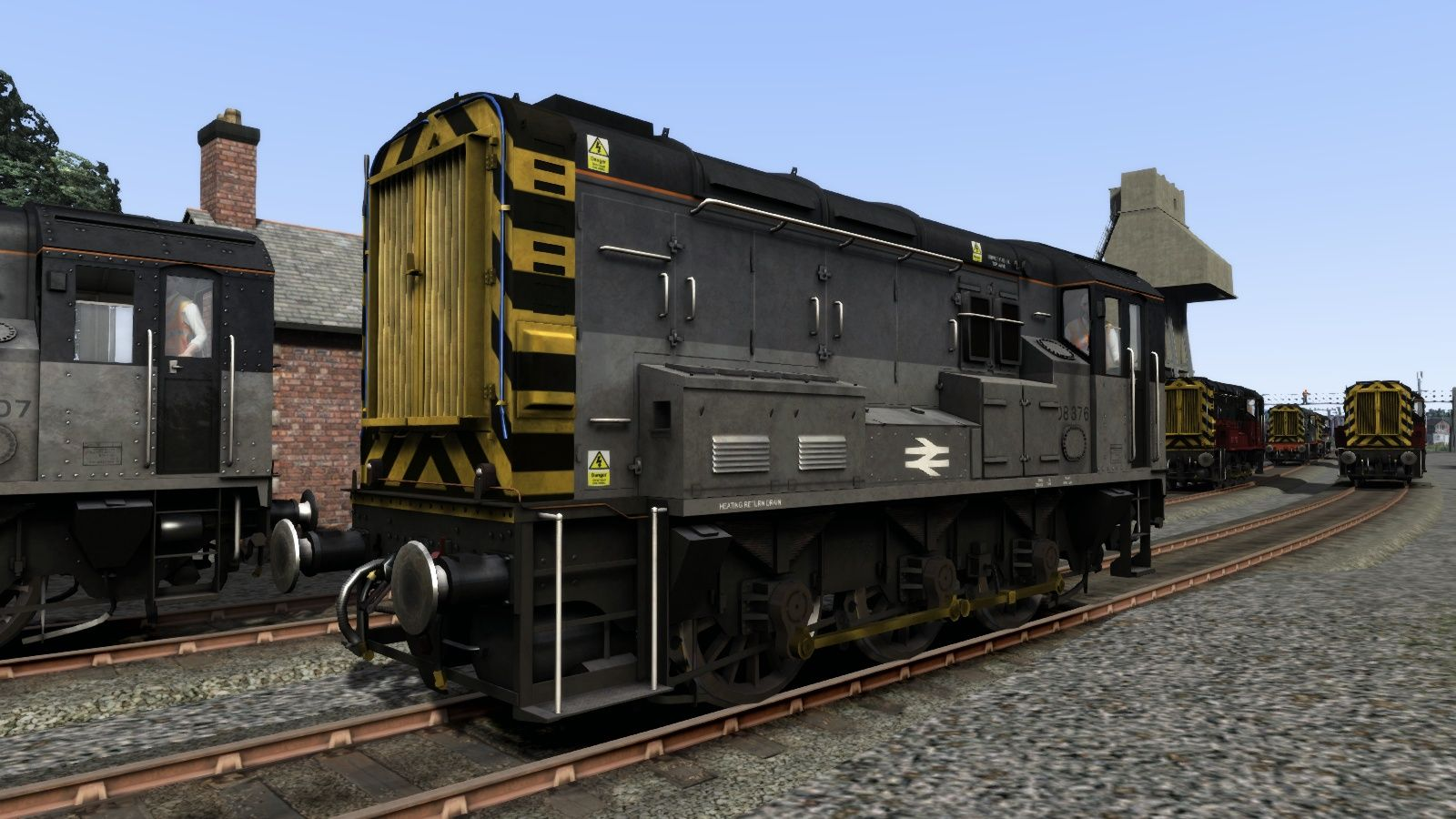 Image showing screenshot of the Class 08 Triple Grey Livery Add-On on the TS Marketplace